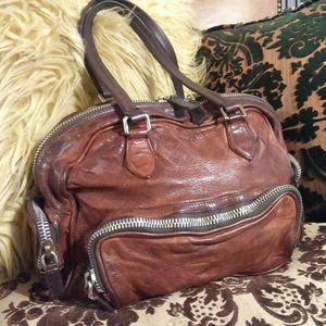❤PRADA WASHED LEATHER BAG